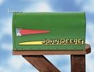 Brievenbus John Deere modern