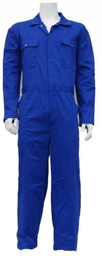 Kinderoverall polyester - katoen  - 140 - Korenblauw