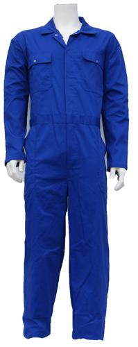 Kinderoverall polyester - katoen  - 152 - Korenblauw