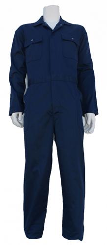 Kinderoverall polyester - katoen  - 128 - Navy