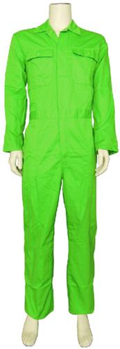 Kinderoverall polyester - katoen  - 98 - Appelgroen