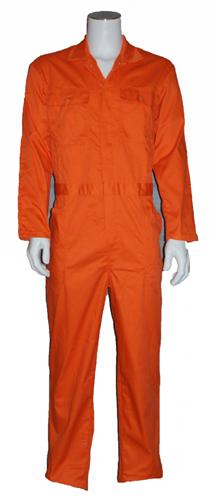 Kinderoverall polyester - katoen  - 128 - Oranje