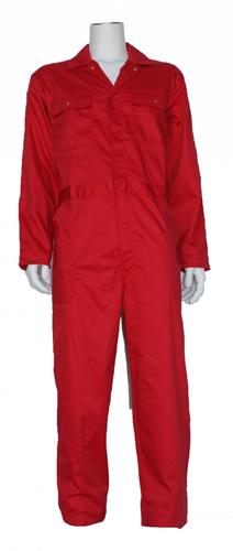 Kinderoverall polyester - katoen  - 104 - Rood
