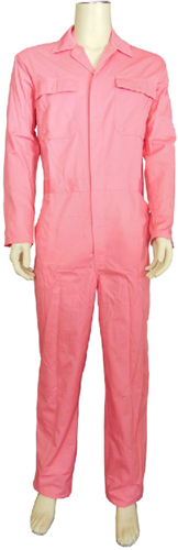 Kinderoverall polyester - katoen  - 176 - Roze