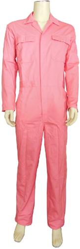Kinderoverall polyester - katoen  - 140 - Roze