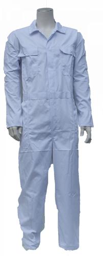 Kinderoverall polyester - katoen  - 176 - Wit