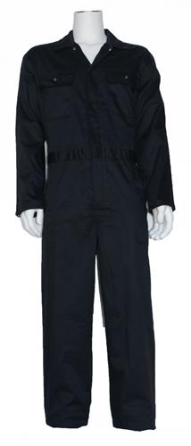 Kinderoverall polyester - katoen  - 128 - Zwart