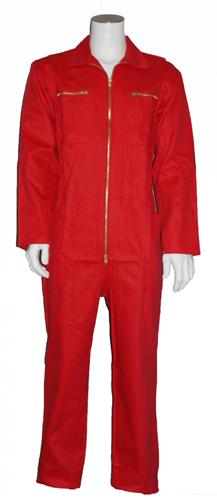 Kinderoverall 100% katoen  - 128 - Rood verschillende kleuren