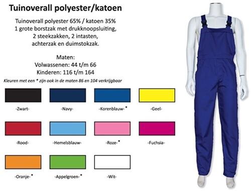 Tuinoverall polyester - katoen Verschillende kleuren
